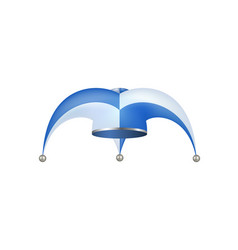 jester hat in white and blue design vector image vector image