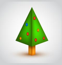 origami christmas tree vector image