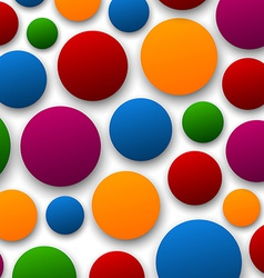 Paper color bubbles vector image vector image