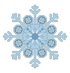 Single Snowflake vector image vector image