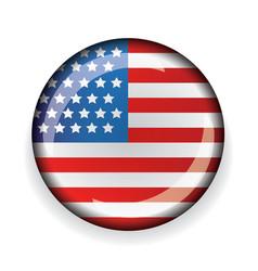 USA flag badge vector image vector image