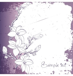 background magnolia flowers for card or invitation vector image vector image