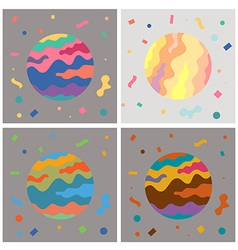 Color Space Art vector image vector image