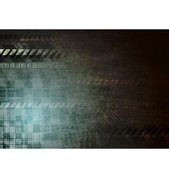Dark hi-tech grunge background vector image