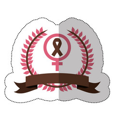 pink symbol breast cancer ribbon image vector image vector image