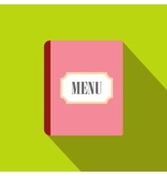 Restaurant menu flat icon vector image