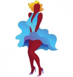 sexy marilyn monroe poster vector image vector image
