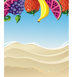 Summer with fruits vector image vector image