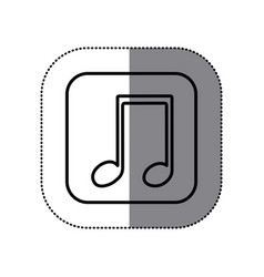symbol play music icon vector image