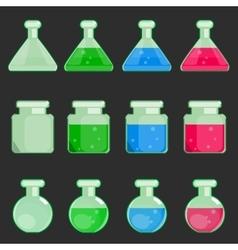 transparent flasks vector image