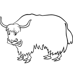 yak for coloring vector image