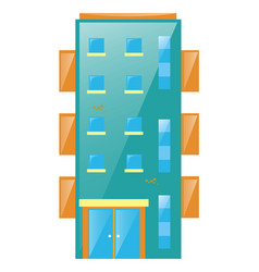 blue building with glass windows vector image