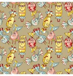 cartoon candies vector image vector image