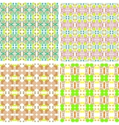 Collection of four seamless decorative patterns vector image vector image