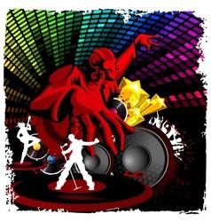 Disco Jockey playing Music vector image vector image