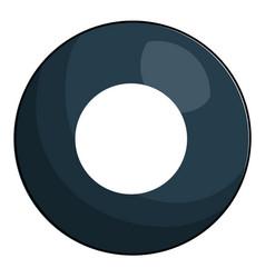 Eight ball billiard icon vector