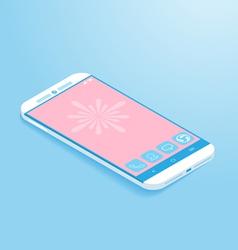 Isometric Flat Smartphone vector image vector image