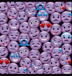 purple smile emoticons wallpaper happy cry sad vector image vector image