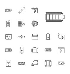 22 battery icons vector