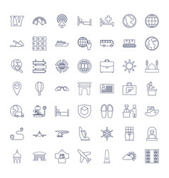 49 travel icons vector