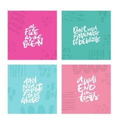 antivalentine lettering quotes vector image