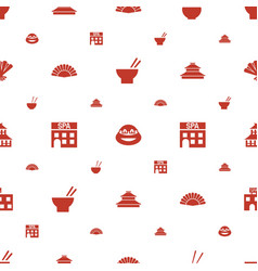 Asia icons pattern seamless white background vector