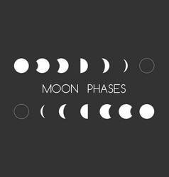 Astrology moon shapes vector