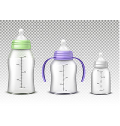 baby bottles isolated on background vector image