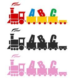 Beautiful Toy Train vector image