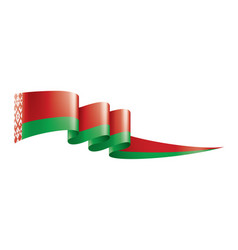 Belarus flag on a white vector