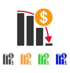 bitcoin falling acceleration graph icon vector image