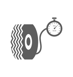 Car tire and compressor vector image