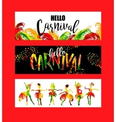 Carnival Bright festive banners trending abstract vector