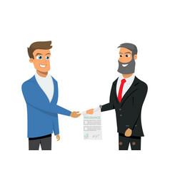 cartoon property insurance vector image