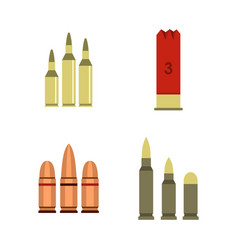 Cartridges icon set flat style vector