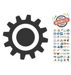 Cog Icon With 2017 Year Bonus Pictograms vector