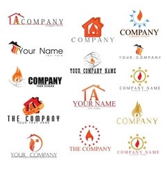 Collectionn of Fire Logotypes in vector image vector image