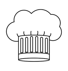 Contour of chefs hat stripeds vector