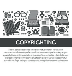 Copyrighting and intellectual property writing vector