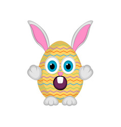 cute easter bunny egg vector image