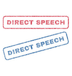 Direct speech textile stamps vector