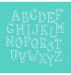 Doodle 3d alphabet vector