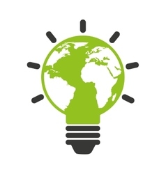 eco bulb isolated icon design vector image