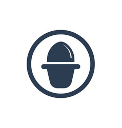 Egg icon template symbols and logo app vector