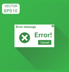 error warning message icon business concept virus vector image