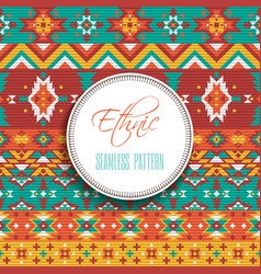 Ethnic Geometric Seamless Pattern vector