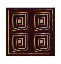 ethnic handmade ornament geometric mosaic ancient vector image