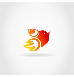 Fire a bird vector image