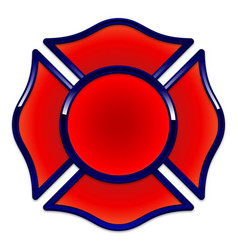 Fire rescue logo base red with dark blue trim vector