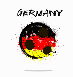 Flag of germany as an abstract soccer ball vector